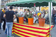 Sant Jordi Day in Barcelona Stock Photo