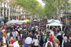 Sant Jordi Day in Barcelona Stock Images