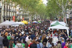 Sant Jordi Day in Barcelona Royalty Free Stock Photos