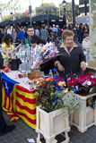 Sant Jordi day in Catalonia Stock Photos