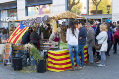Sant Jordi day in Catalonia Stock Images