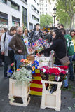 Sant Jordi day in Catalonia Royalty Free Stock Photography