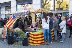 Sant Jordi Day en Barcelona Imagen de archivo libre de regalías