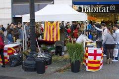Sant Jordi Day en Barcelona Foto de archivo libre de regalías