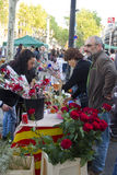 Sant Jordi Day en Barcelona Foto de archivo