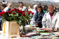 Sant Jordi feast - Catalan Saint George day Royalty Free Stock Photos