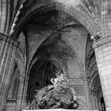 Sant Jordi och gotisk kloster Arkivfoton