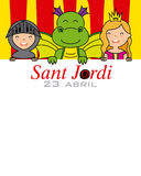 Sant Jordi Stock Photo