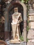 Sant Jorge - santo George Sculpture en Montserrat, España fotos de archivo