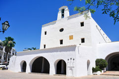 Sant Josep Church, in Ibiza Island, Spain Stock Image