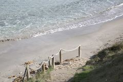 Sant Juan Beach; Alcudia; Maiorca Fotografia Stock Libera da Diritti