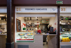 Sant Juan Market interior Hungarian food Stock Image