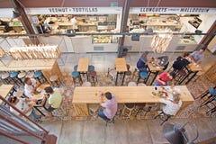 Sant Juan Market interior Stock Images