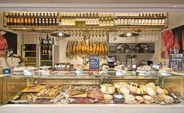 Sant Juan rynku wnętrza iberico zdjęcia stock