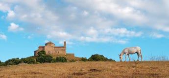 Sant Llorenc del Munt Monastery,卡塔龙尼亚,西班牙 图库摄影