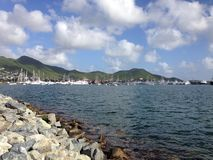 Sant Maarten yacht caribbean sea Royalty Free Stock Images