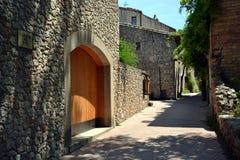 Sant Martí d'Empúries i costaen Brava, Spanien royaltyfri bild
