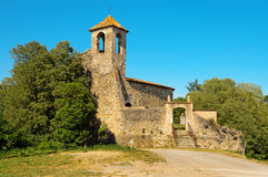 Sant Marti Church in Besalu, Spain Stock Photo