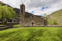 Sant Marti de la Cortinada Church  in La Cortinada, Andorra. Sant Marti de la Cortinada Church  in La Cortinada. La Cortinada, Andorra Royalty Free Stock Image