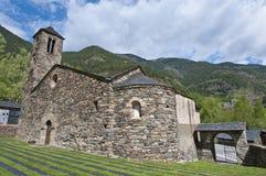 Sant Marti at La Cortinada, Andorra. Sant Marti romanic church facade at La Cortinada, Andorra Royalty Free Stock Photography