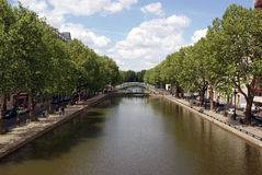 Sant Martin Canal, Paris, France Royalty Free Stock Photography