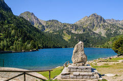 Sant Maurici lake Royalty Free Stock Images