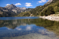 Sant Maurici lake - Pyrenees. Summer day Royalty Free Stock Photos