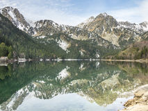 Sant Maurici Lake Reflections Royalty Free Stock Photography