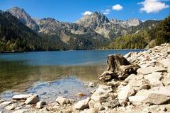 Sant Maurici lake. Summer day. Royalty Free Stock Image