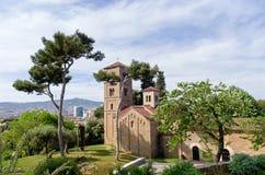 Sant Miquel古代罗马修道院在巴塞罗那 库存照片