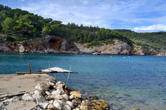 Sant Miquel beach in Ibiza, Spain Royalty Free Stock Image