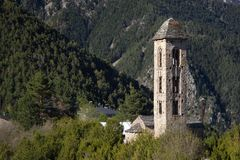 Sant Miquel romanic church, Andorra Stock Photos