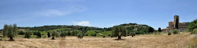 Sant& x27; Panorama de la abadía de Antimo Fotos de archivo libres de regalías