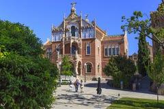 Sant Pau Art Nouveau Site, Barcelona Royaltyfri Bild