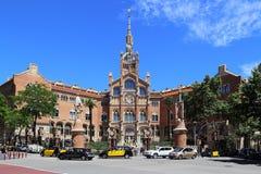 Sant Pau Art Nouveau Site, Barcelona Fotografering för Bildbyråer