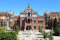 Sant Pau Art Nouveau Site, Barcelona Royaltyfria Foton