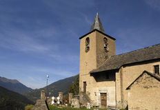 Sant Peir church, Betlan, Aran Valley  Lleida province,Pyrenees, Catalonia, Spain Royalty Free Stock Images