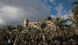 Sant Pere Bastion in Palma de mallorca wide. The old bastion of Sant Pere, a 16th century defensive antique walls in the city of palma in the touristic spanish Royalty Free Stock Photos