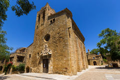 Sant Pere Church in Pals, Spain. The Sant Pere Church in Pals, Spain royalty free stock photo