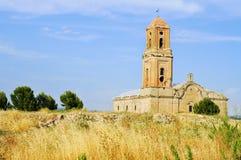 Sant Pere Church in Poble Vell de Corbera d'Ebre in Spain. View of the Sant Pere Church in Poble Vell de Corbera d'Ebre, in Spain Royalty Free Stock Image