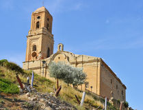 Sant Pere Church in Poble Vell de Corbera de Ebro in Spain Royalty Free Stock Image