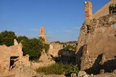 Sant Pere Church in Poble Vell de Corbera de Ebro, Tarragona pro Royalty Free Stock Photos