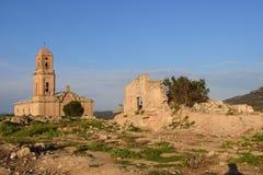 Sant Pere Church in Poble Vell de Corbera de Ebro, Tarragona pro Stock Images