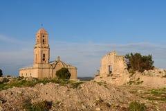 Sant Pere Church in Poble Vell de Corbera de Ebro, Tarragona pro Stock Photo