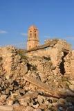 Sant Pere Church in Poble Vell de Corbera de Ebro, Tarragona pro Stock Image