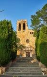 Sant Pere de Pals教会 girona西班牙 图库摄影