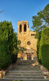 Sant Pere de Pals kyrka girona spain Arkivbild