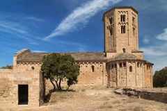 Sant Pere de Ponts. Church of Sant Pere de Ponts, Lleida province, Catalonia Stock Images