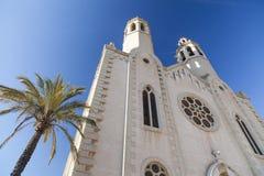 Sant Pere de Ribes,Catalonia,Spain. Architecture, religious building, church, Iglesia de Sant Pau y Sant Pere, Sant Pere de Ribes, province Barcelona, Catalonia Stock Image