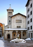 Sant Pere Martir church in Andorra la Vella. Andorra.  royalty free stock photos